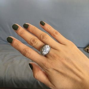 Marbled Jewel Ring